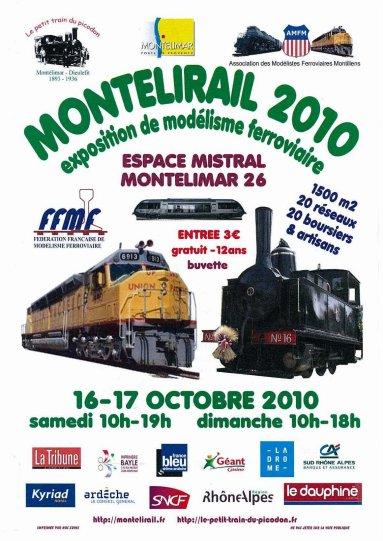 Expo Montélirail à Montélimar (Drôme) les 16 et 17 octobre Montelirail